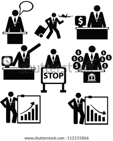Business concept,resource,person style,icon set,Vector - stock vector