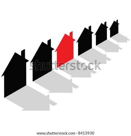 Business Concept - rising house prices - stock vector