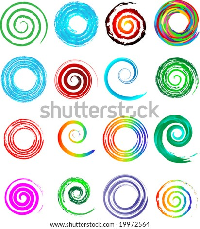 business concept swirl icon set