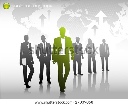 business concept: thinking different, being an innovator - stock vector