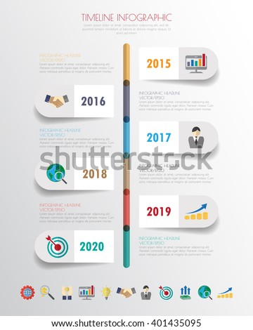 Business concept timeline infograph template realistic stock photo business concept timeline infograph template realistic paper 5 steps infographic vector banner can wajeb Images