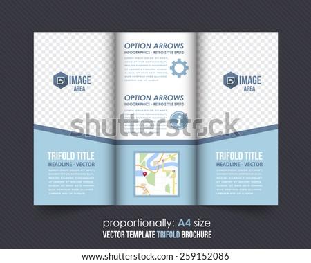 Business Concept Tri-fold Design and Brochure, Catalog Vector Template  - stock vector