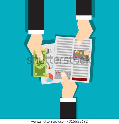 Business concept vector background - stock vector