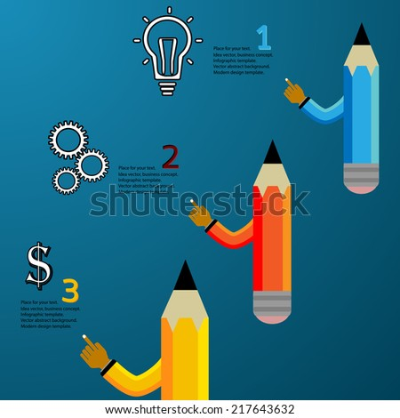 Business Concept vector illustration,pencil modern template,infographic business plan. - stock vector