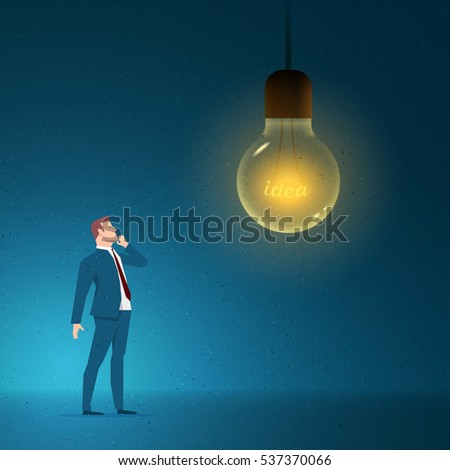 Business concept vector illustration. Thinking, idea, creativity concept. Elements are layered separately in vector file.