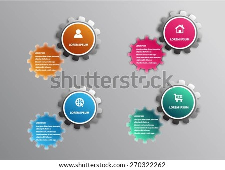 Business concept  with business strategy diagram options - stock vector