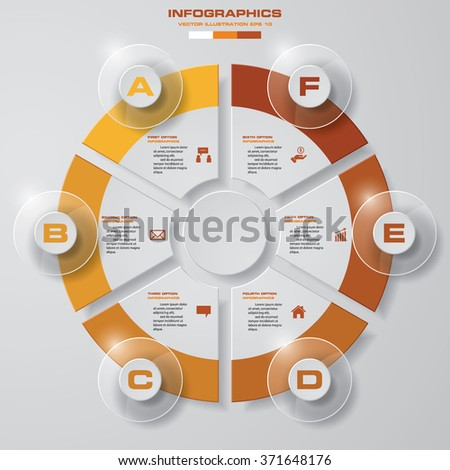 Business concept with 6 options, parts, steps or processes. Abstract background.  EPS10. - stock vector