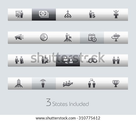 Business Concepts // Classic Bars +++ The vector file includes 3 buttons states in different layers. +++ - stock vector