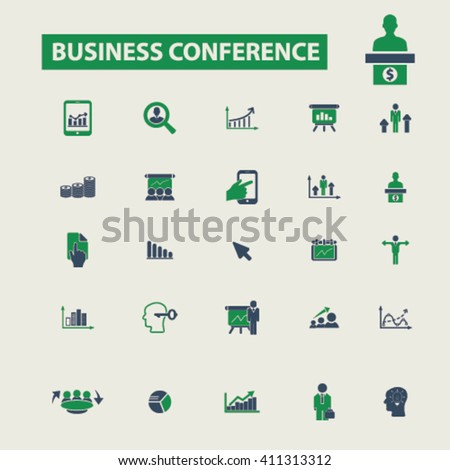 business conference icons  - stock vector