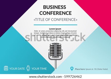 Conference stock images royalty free images vectors for Conference save the date template