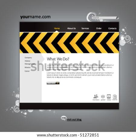 business construction web site design template - vector illustration - stock vector