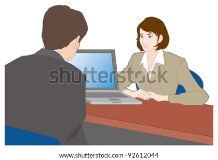 Business / Consultation - stock vector