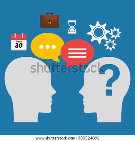 Business consulting with icons design, vector graphic - stock vector
