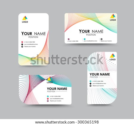 business contact card template design name stock vector 300365198 shutterstock. Black Bedroom Furniture Sets. Home Design Ideas