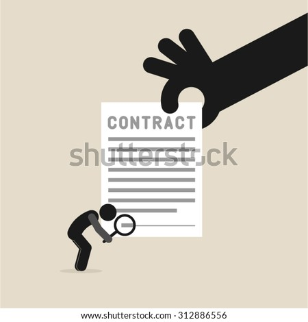 Business, contract, agreement, signature - stock vector