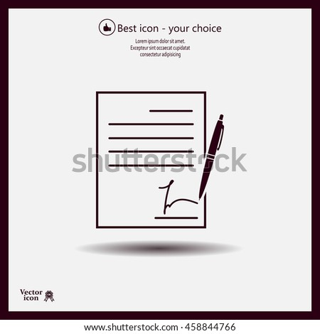 Business Man Hand Holding Contract Agreement Stock Illustration