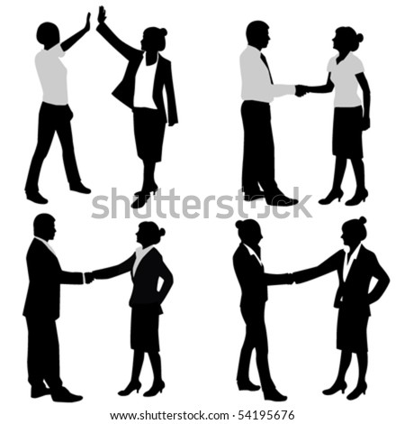 business couple - stock vector