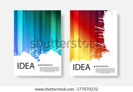 Business cover easy all editable - stock vector