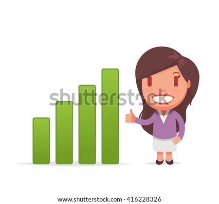 Business cute vector woman