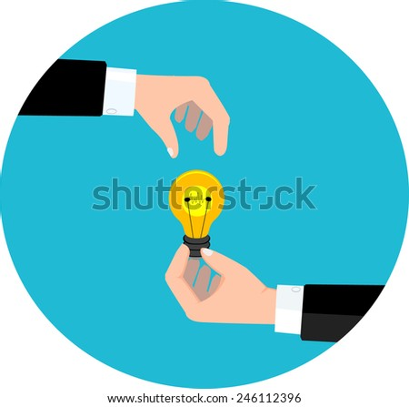 business deal with new idea. Vector eps 10 - stock vector