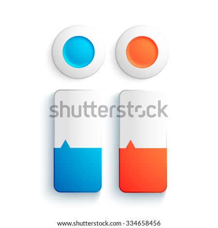 Business design concept. Banners set. realistic round and rectangular objects. Vector Illustration, eps10, contains transparencies. - stock vector