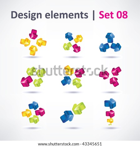 Business Design elements ( icon ) arrow set for print and web. vector - stock vector