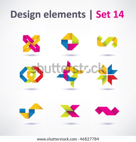 Business Design elements ( icon ) set for print and web. vector - stock vector