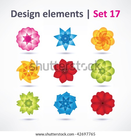 Business Design elements set ( icon ) for print and web. vector - stock vector
