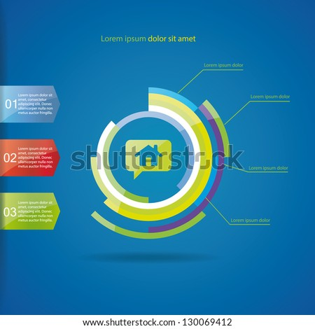 Business diagram template web. Can be used for infographics,  graphic or website layout vector - stock vector