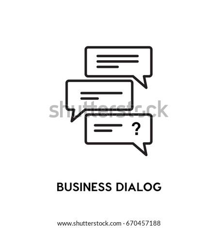 Business Dialog Vector Icon Congress Symbol Stock Vector 670457188