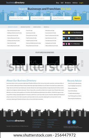 Business directory website template stock vector 256447972 business directory website template accmission Gallery