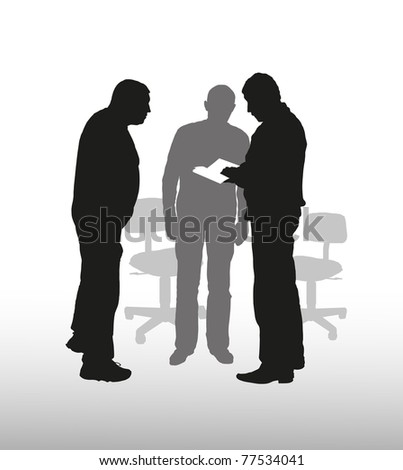 Business discussion  vector - stock vector