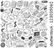 Business doodles collection - stock vector