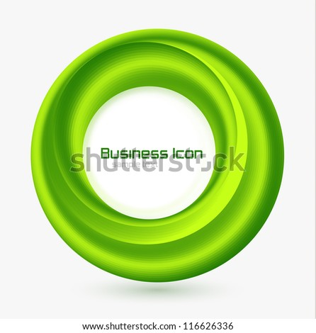 Business ecology swirl concept - stock vector