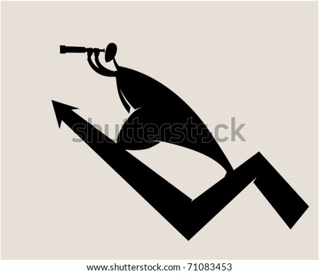 Business. Economic growth - stock vector