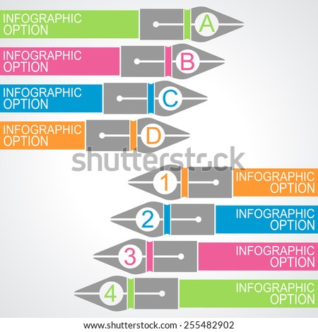 Business education Infographics option. Vector illustration. can be used for workflow layout, banner, diagram, number options, step up options, web design. - stock vector