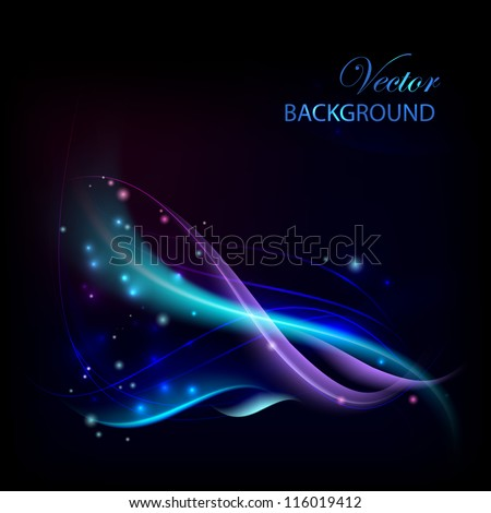 Business elegant blue abstract background. Vector illustration. - stock vector