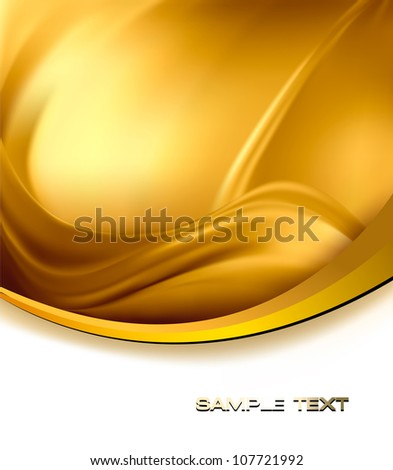 Business elegant gold abstract background. Vector illustration - stock vector