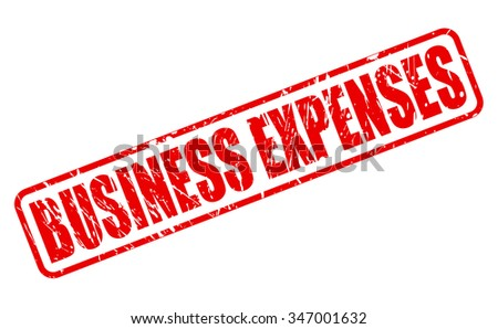 BUSINESS EXPENSES red stamp text on white - stock vector