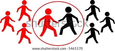 Business fight - stock vector