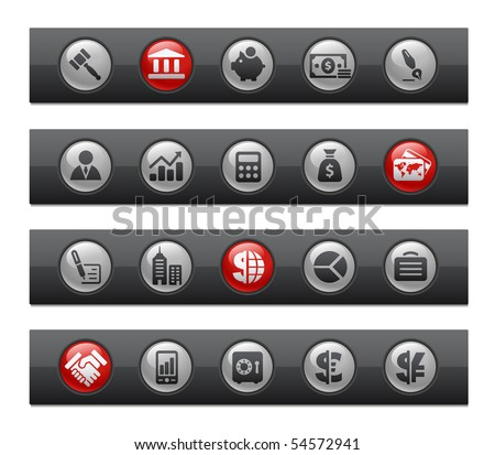 Business & Finance // Button Bar Series - stock vector