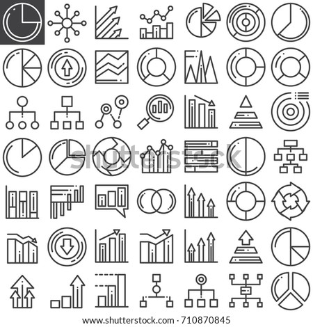Business finance charts line icons set stock vector 710870845 business finance charts line icons set outline vector symbol collection linear pictogram pack ccuart Image collections
