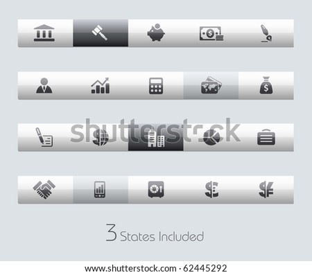 Business & Finance // Classic Series +++ It includes 3 buttons states in different layers. +++ - stock vector