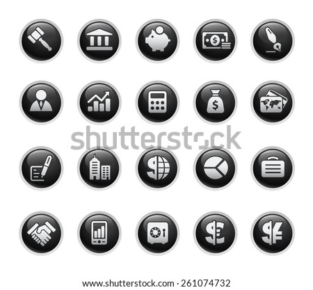 Business & Finance Icons - stock vector