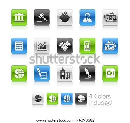 Business & Finance Icons // Clean Series -------It includes 4 color versions for each icon in different layers --------- - stock vector
