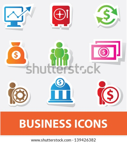 Business & finance icons,vector - stock vector