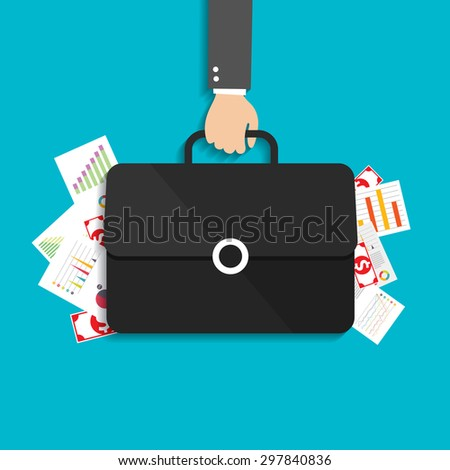 business finance investment with charts and graphs. vector - stock vector