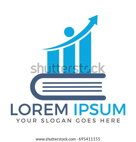 business finance logo growth graphic logo stock vector royalty free