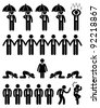 Business Finance Situation Concept in Office Workplace Icon Pictogram - stock photo