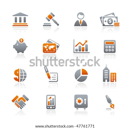 Business & Finance Web Icons // Graphite Series - stock vector